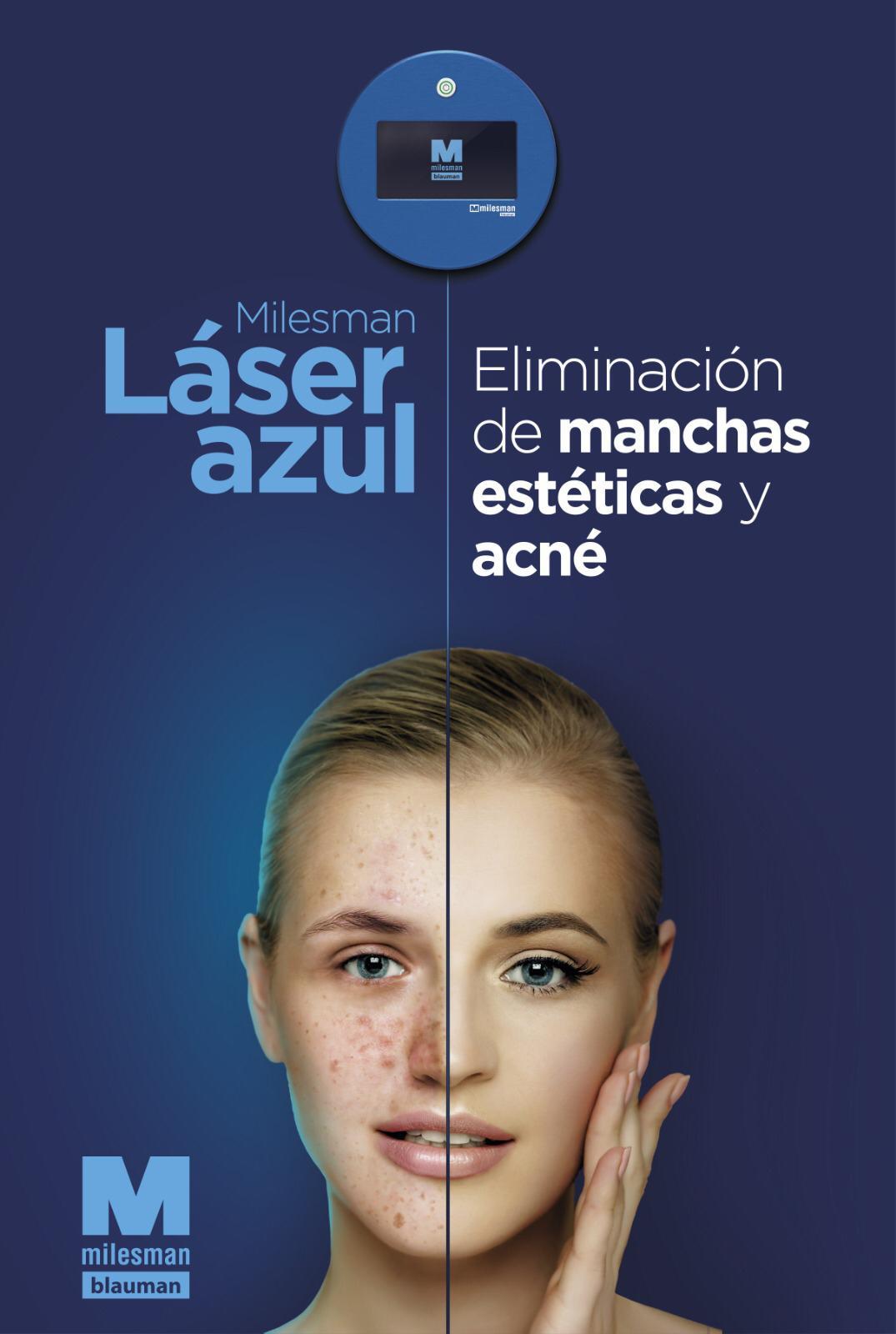 Láser azul para estética en Logroño
